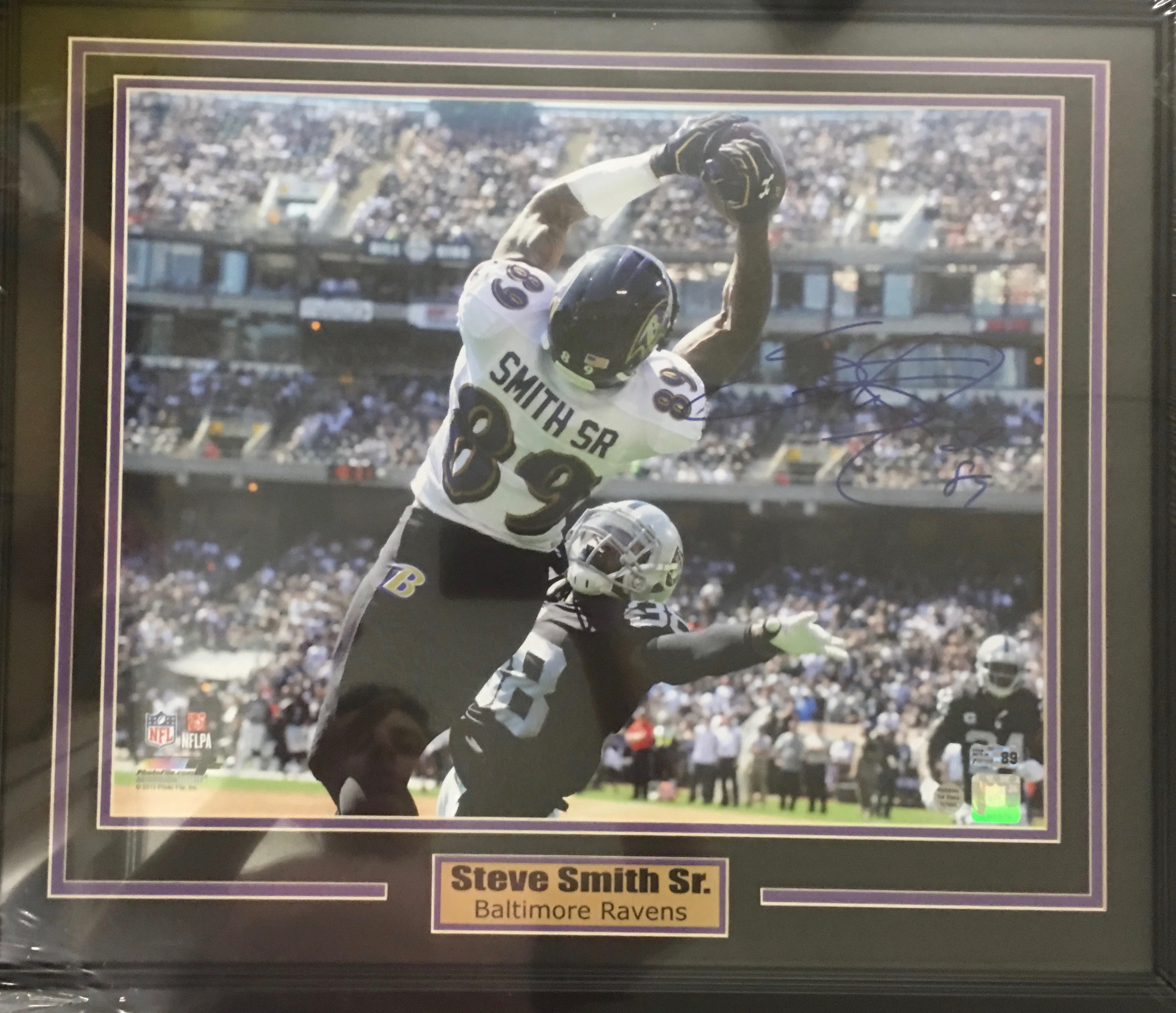 Steve Smith Autographed and Framed Photo