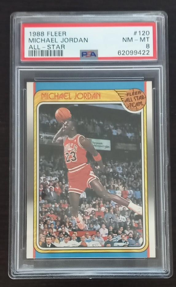 Have one to sell? Sell now - Have one to sell? Details about  1988-89 FLEER BASKETBALL ALL-STAR #120 MICHAEL JORDAN PSA 8 NM-MT