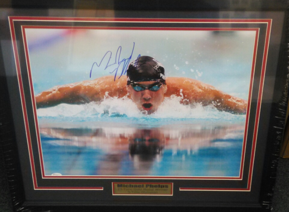 Michael Phelps signed 16x20 JSA