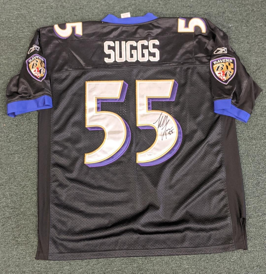 TERRELL SUGGS SIGNED RAVENS JERSEY (JSA)