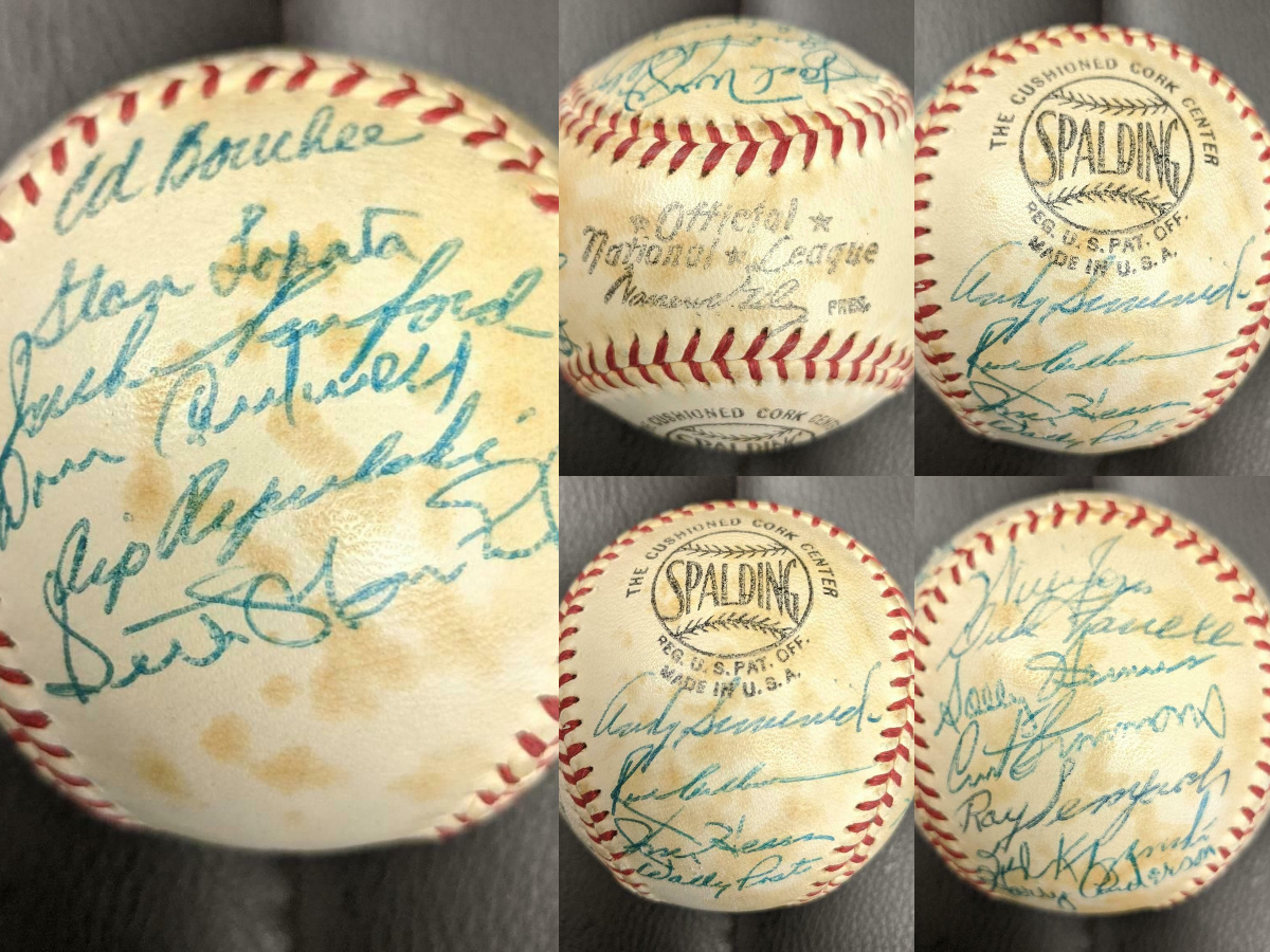 1958 PHILADELPHIA PHILLIES TEAM SIGNED BASEBALL