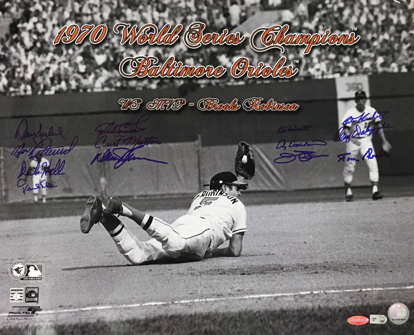 1970 World Series Champion Baltimore Orioles Multi-Signed 16x20