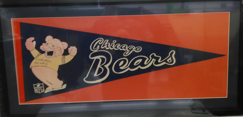 Chicago Bears Vintage Pennant (custom matted & framed)