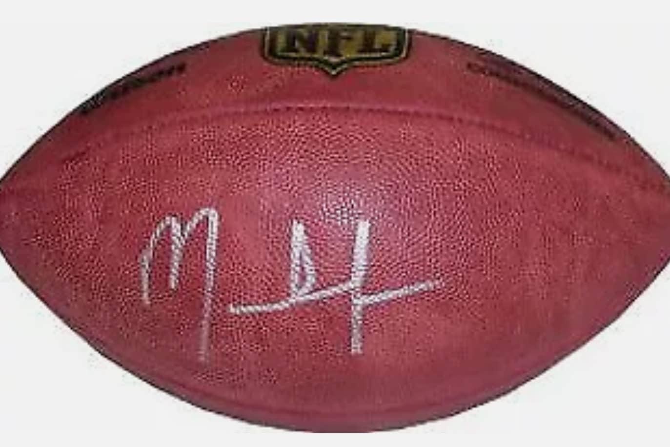 MARK INGRAM SIGNED WILSON NFL FOOTBALL(PSA)