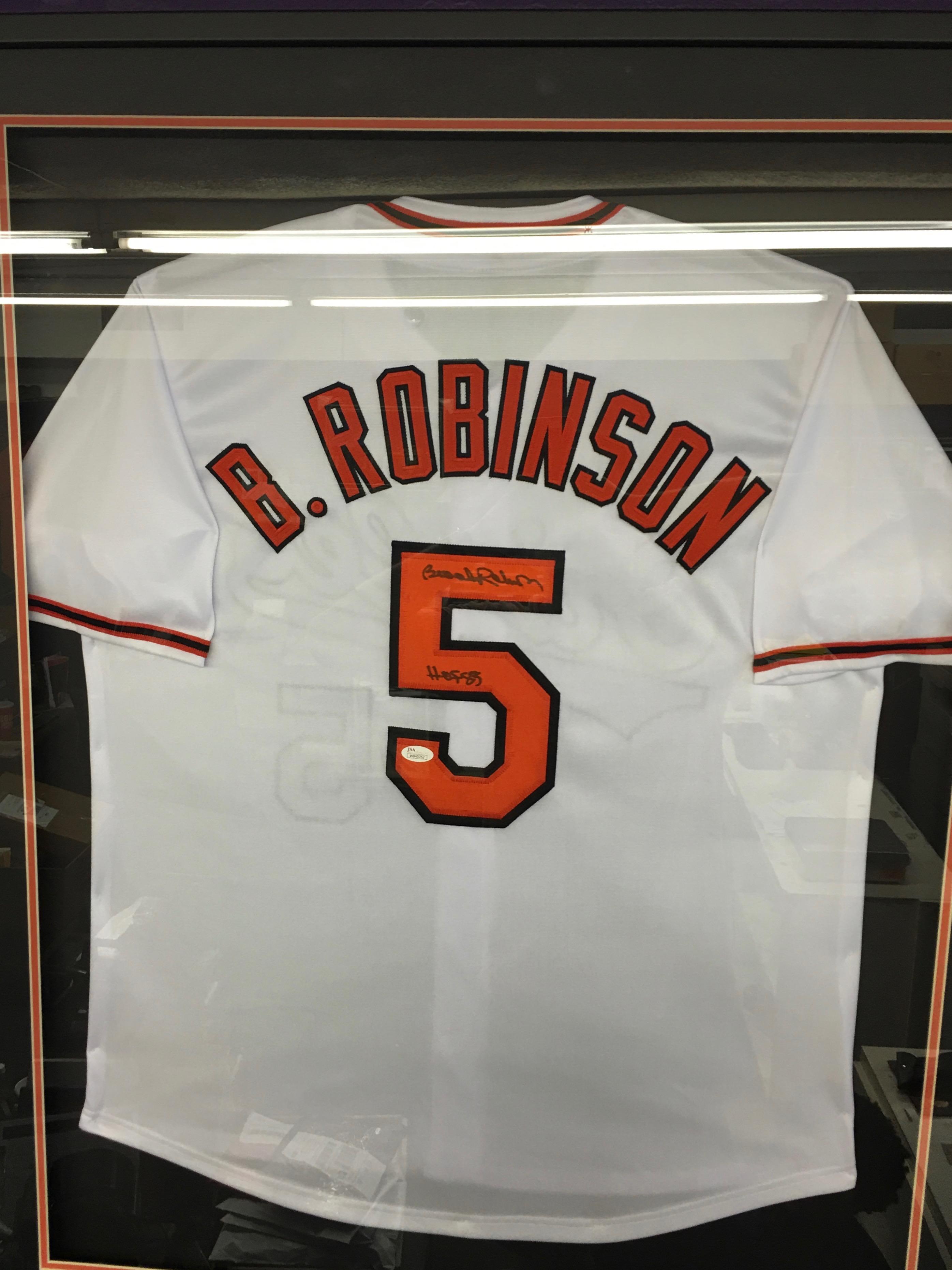 Brooks Robinson signed and Framed Jersey inscribed HOF85 (JSA)