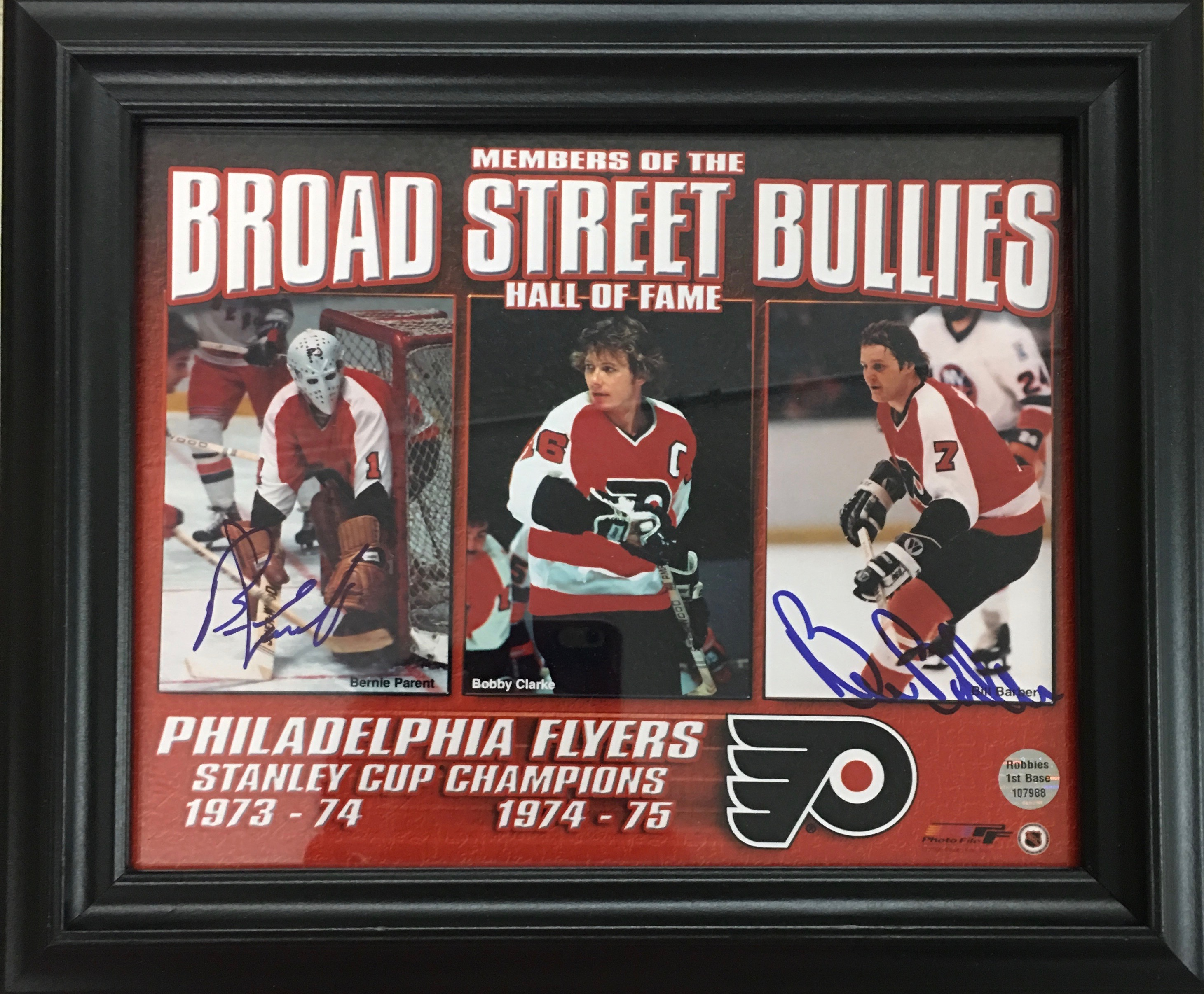 Autographed photo by 2 members of the Broad Street Bullies