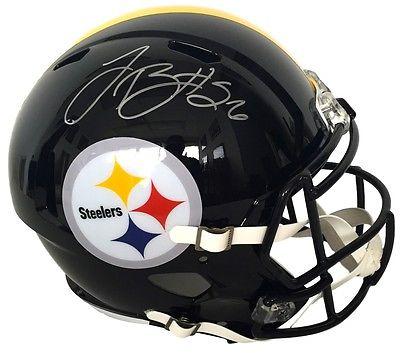 Le'Veon Bell Signed Pittsburgh Steelers Riddell Full SZ Speed Replica Helmet JSA
