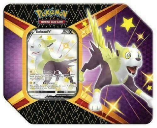 Pokemon TCG Shining Fates Tin BOLTUND V Factory Sealed