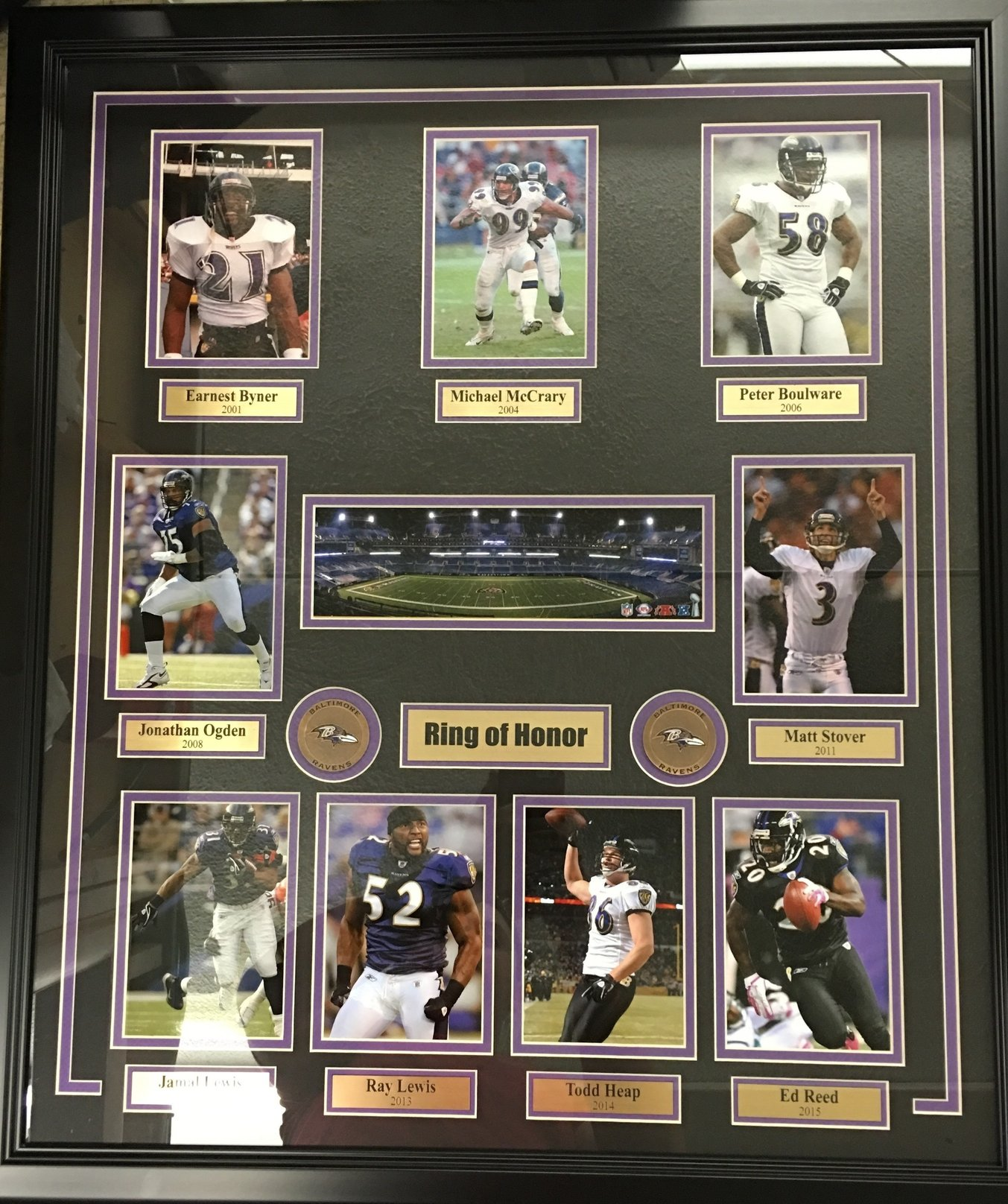 Baltimore Ravens Ring of Honor Collage