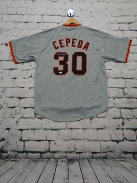 Orlando Cepeda signed  SF Giants jersey