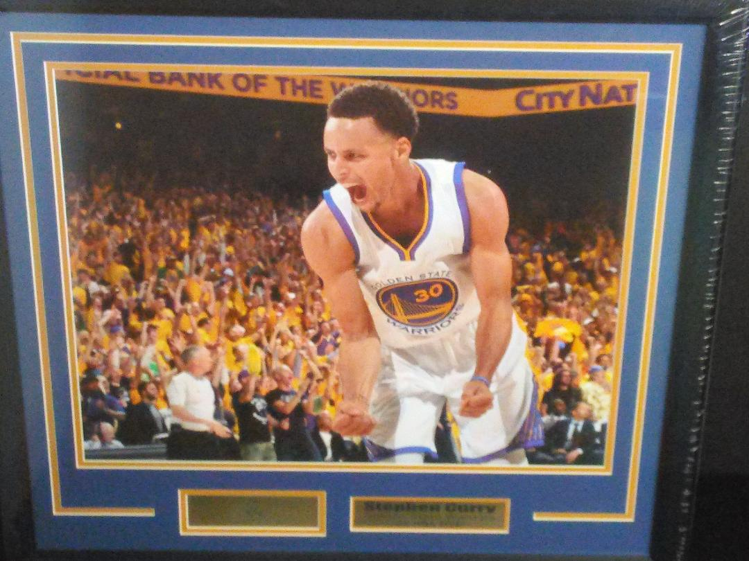 Steph Curry framed 16x20 w/ laser engraved signature