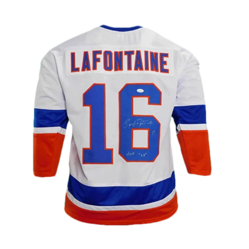 Pat Lafontaine Signed HOF '03 New York Pro Edition Hockey Jersey (JSA)
