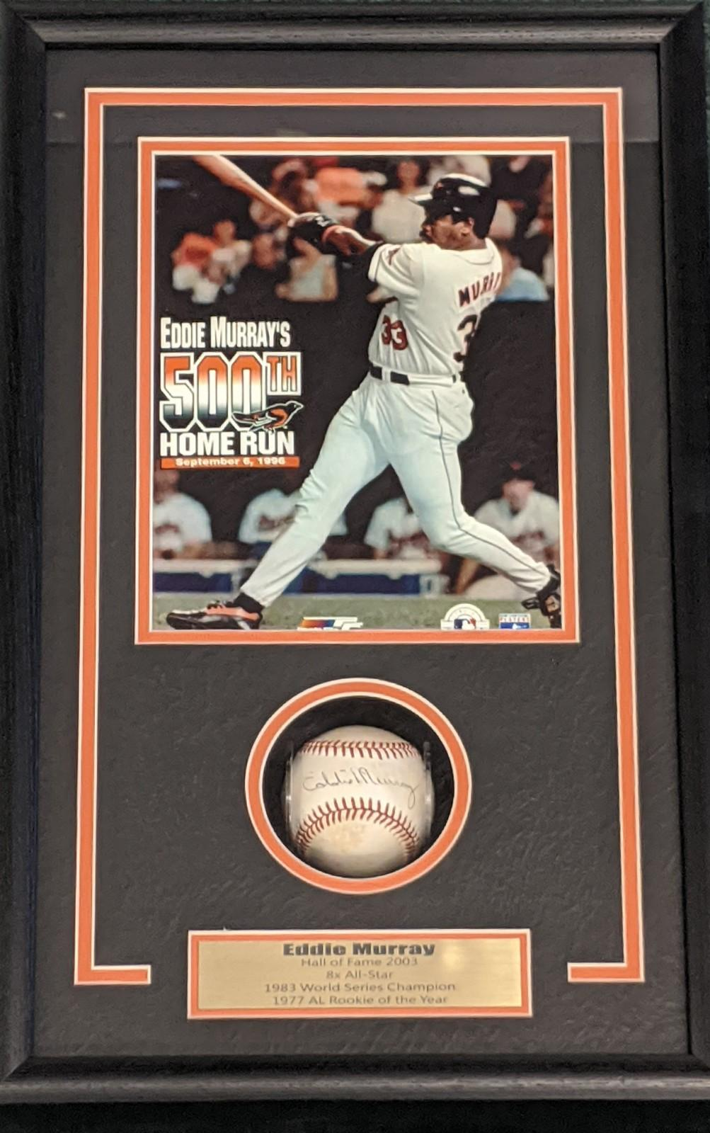 EDDIE MURRAY SIGNED BASEBALL SHADOWBOX