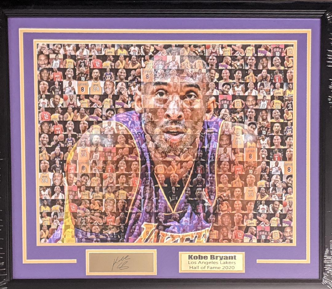 Faces Kobe Bryant Custom Framed 22x28
