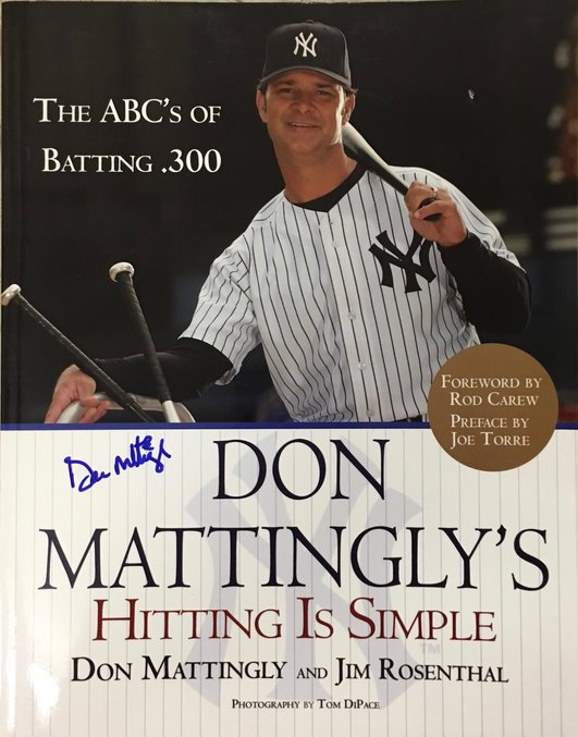 Don Mattingly signed book