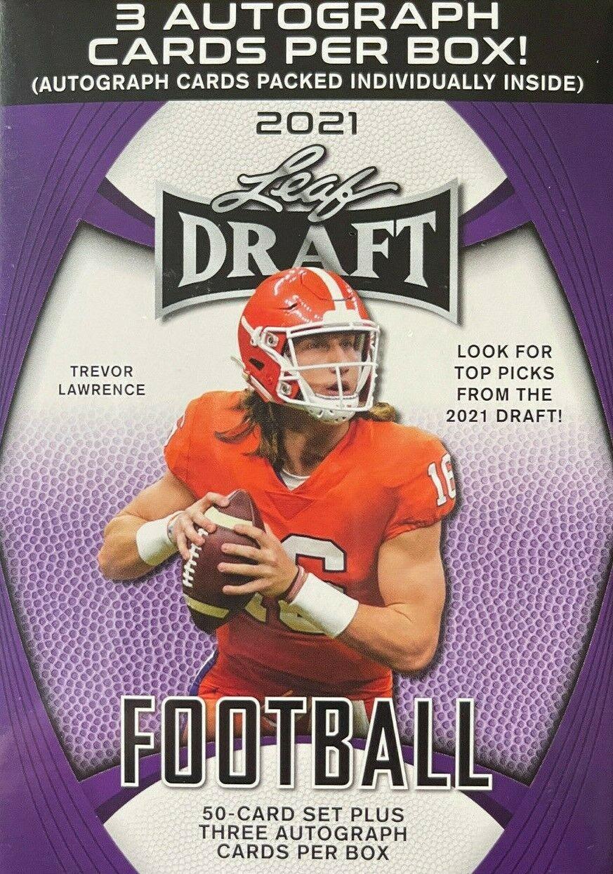 "2021 Leaf Draft Football ""Hobby Blaster"" Box"