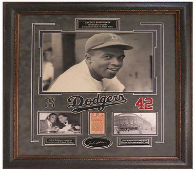 Jackie Robinson custom framed portrait