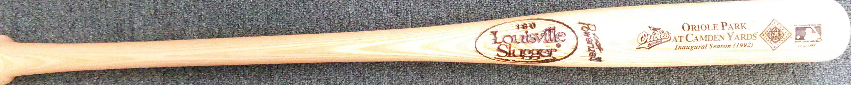 1992 Camden Yards Inaugural Season bat