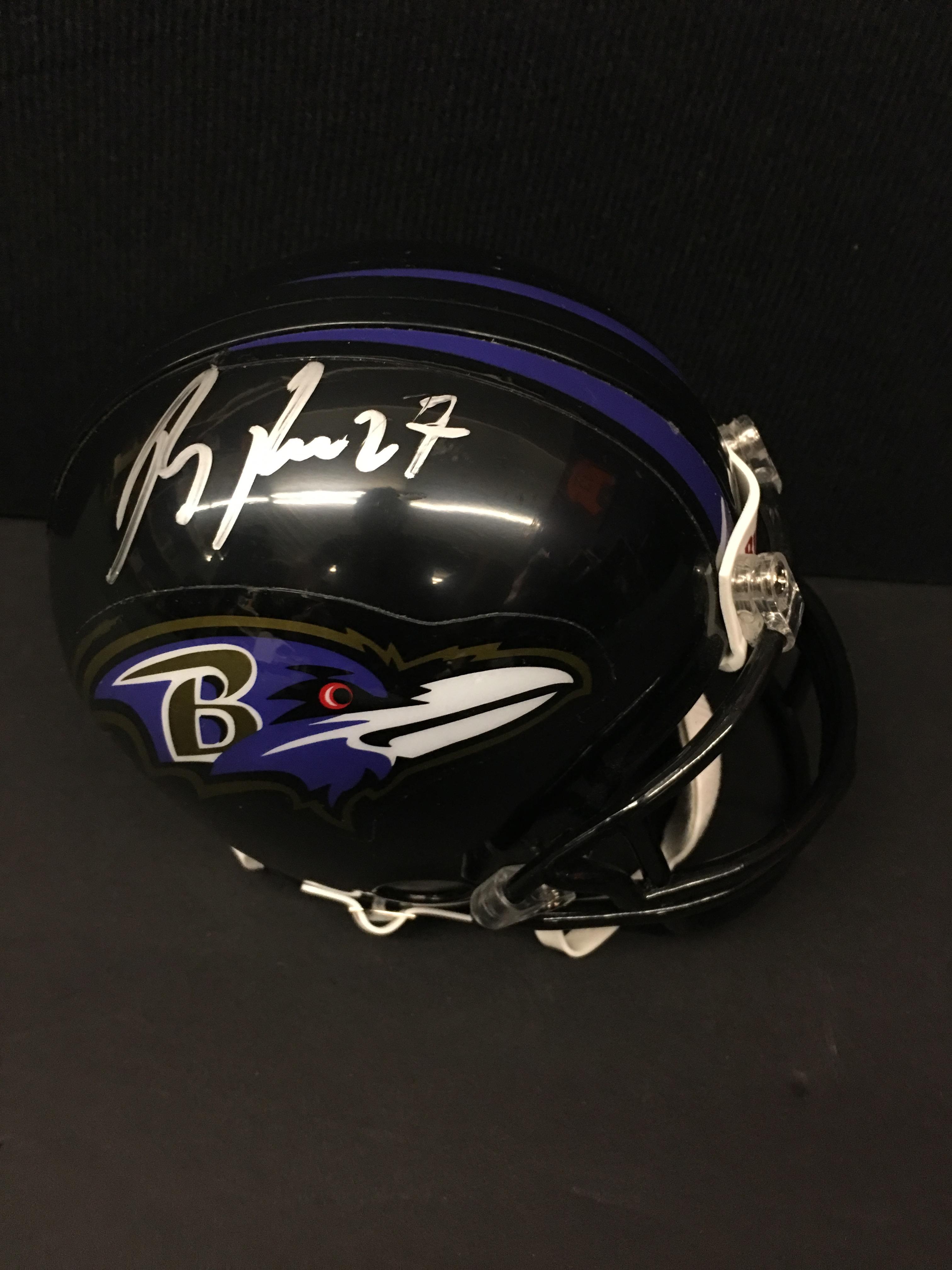 Ray Rice signed mini helmet