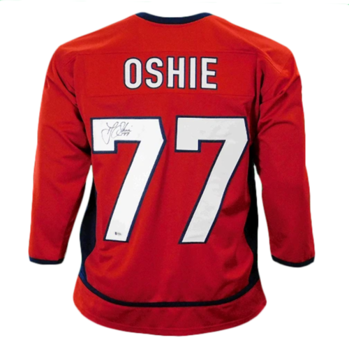 TJ Oshie Signed Washington Red Hockey Jersey (Beckett)