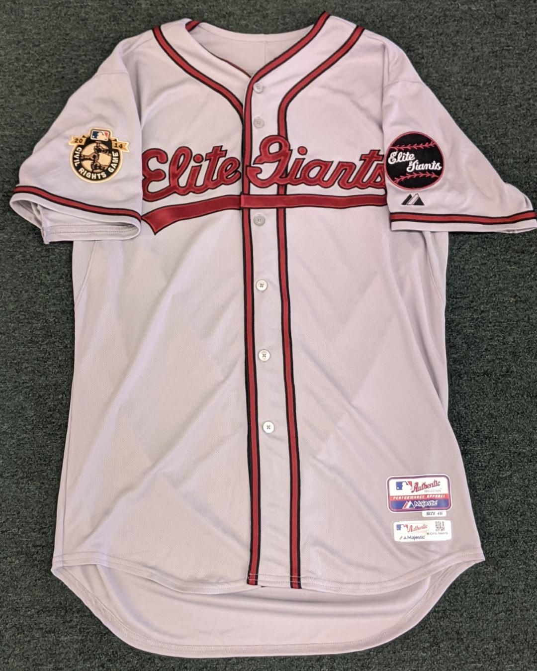 BALTIMORE ORIOLES / ELITE GIANTS  CIVIL RIGHTS GAME JERSEY