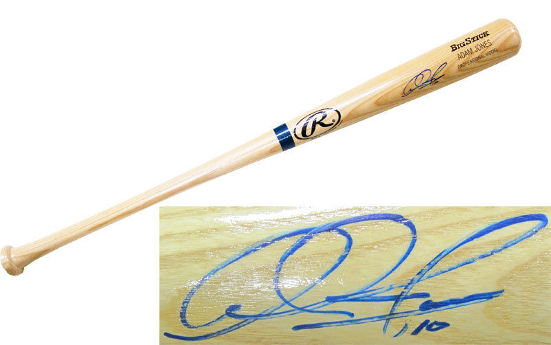 Adam Jones signed Rawlings Big Stick