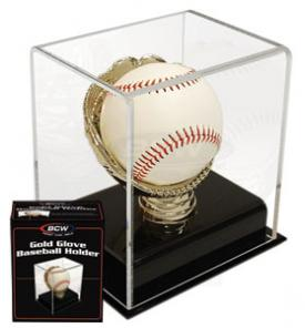 Deluxe Acrylic Gold Glove Baseball Display