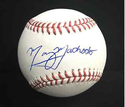 Manny Machado signed OMLB w/ NEW FULL SIGNATURE
