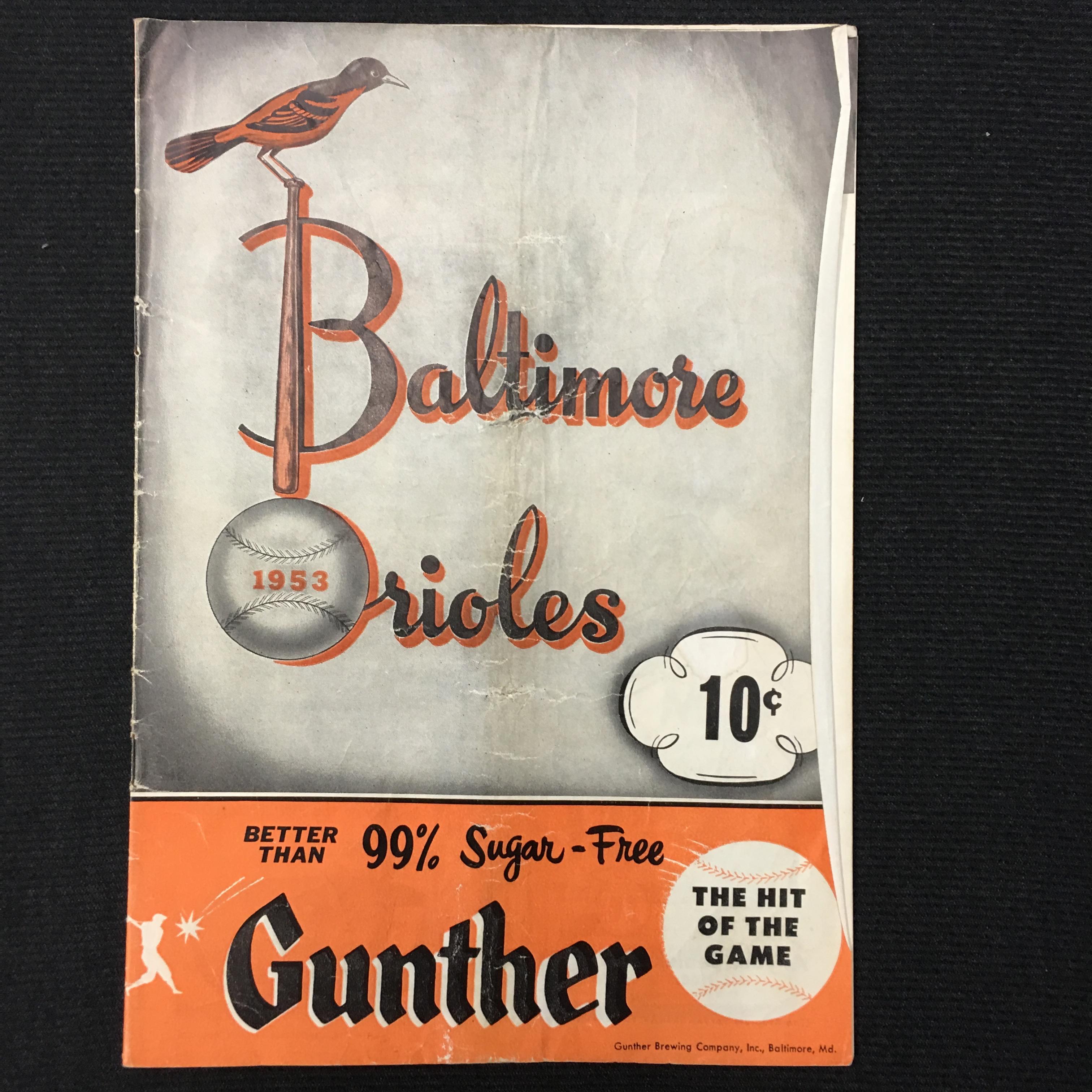 1953 Baltimore Orioles Program (International League)