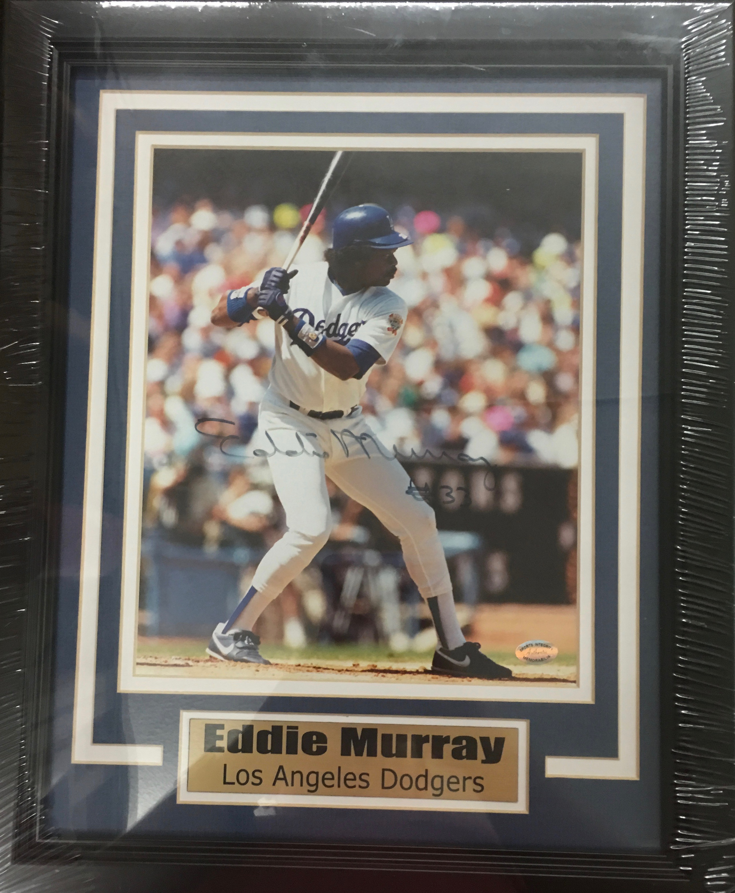 Eddie Murray signed and framed 8x10 (Dodgers)