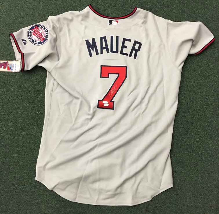 Joe Mauer signed Minnesota Twins Away Jersey