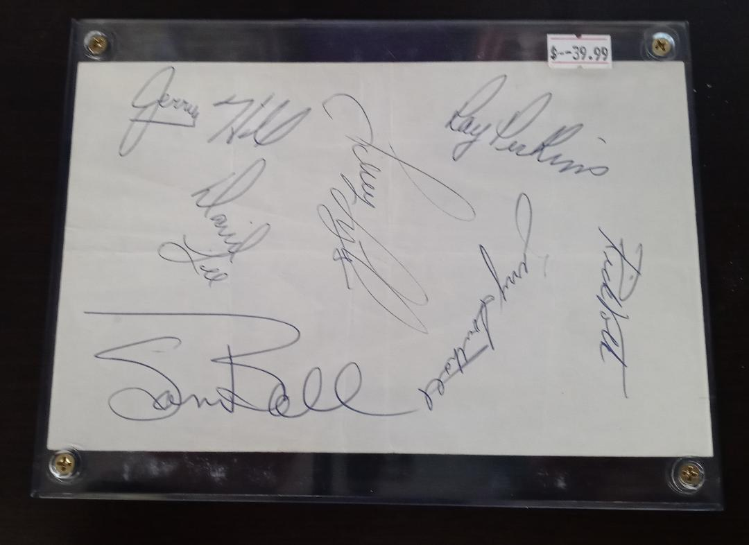 1967 BALTIMORE COLTS SIGNED BOOK PAGE