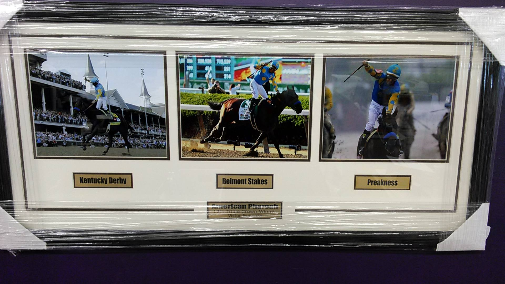 American Pharoah Triple Crown Collage
