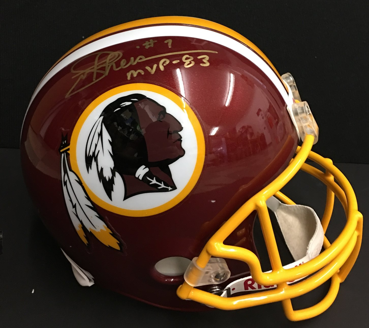 Joe Theismann autographed Helmet