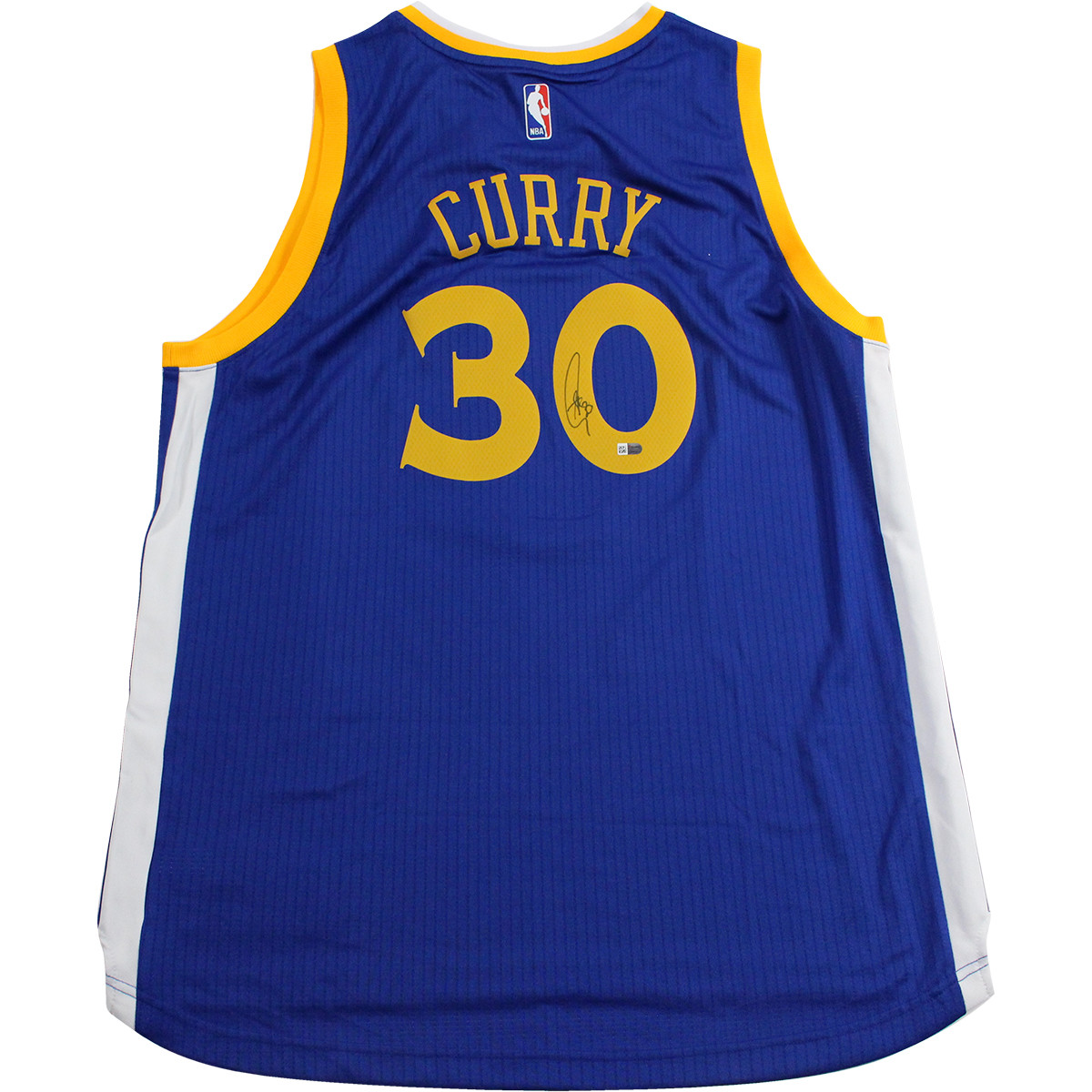Stephen Curry Signed Golden State Warriors Adidas Swingman Blue Jersey (Fanatics Auth)