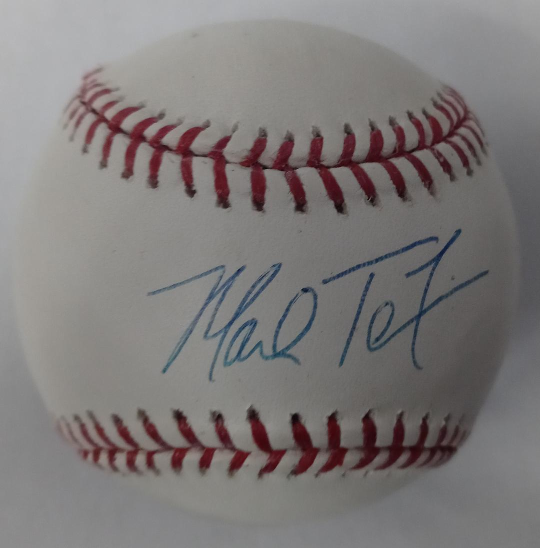 MARK TEIXEIRA SIGNED OMLB