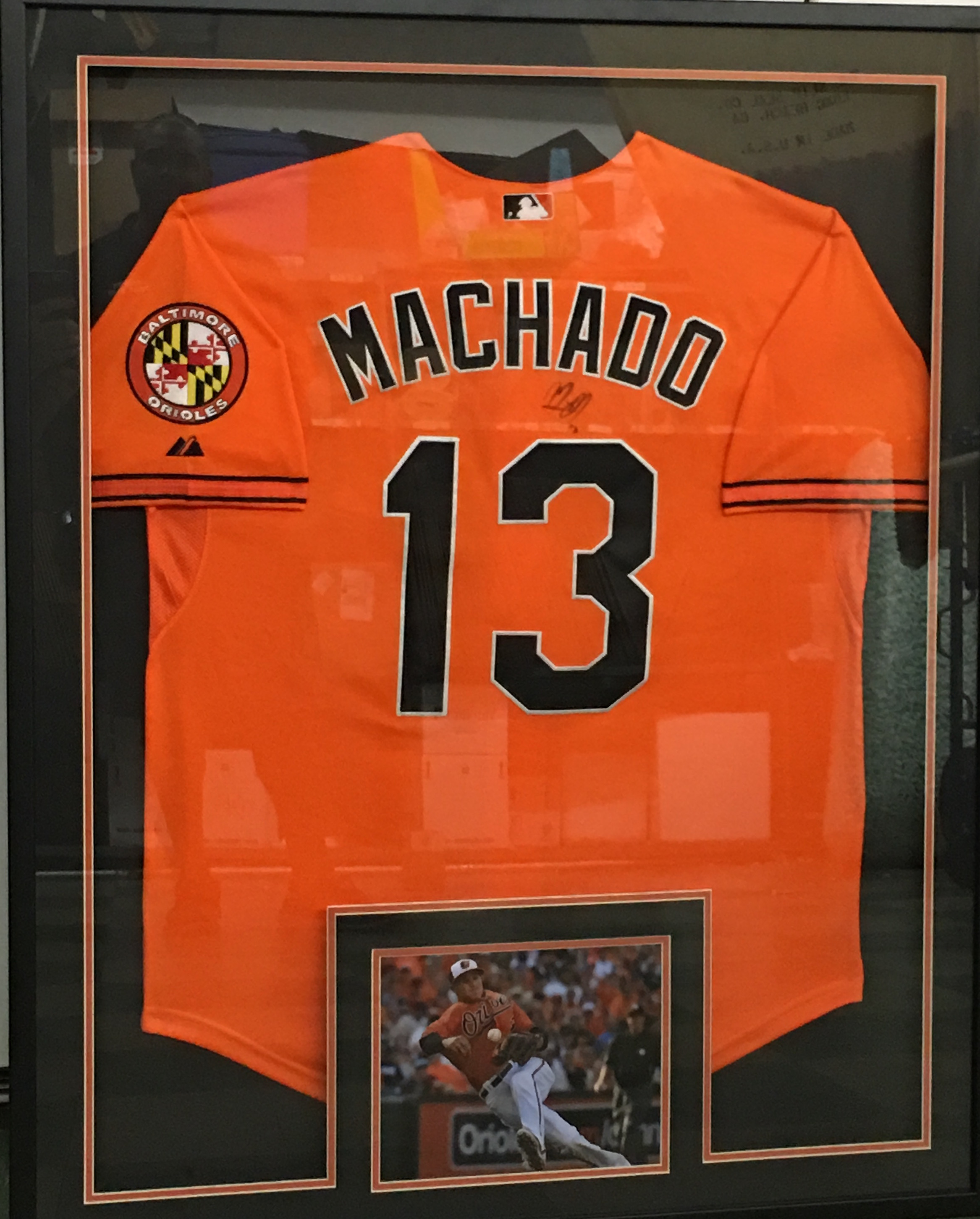 Manny Machado signed and Framed Baltimore Orioles Jersey (JSA)