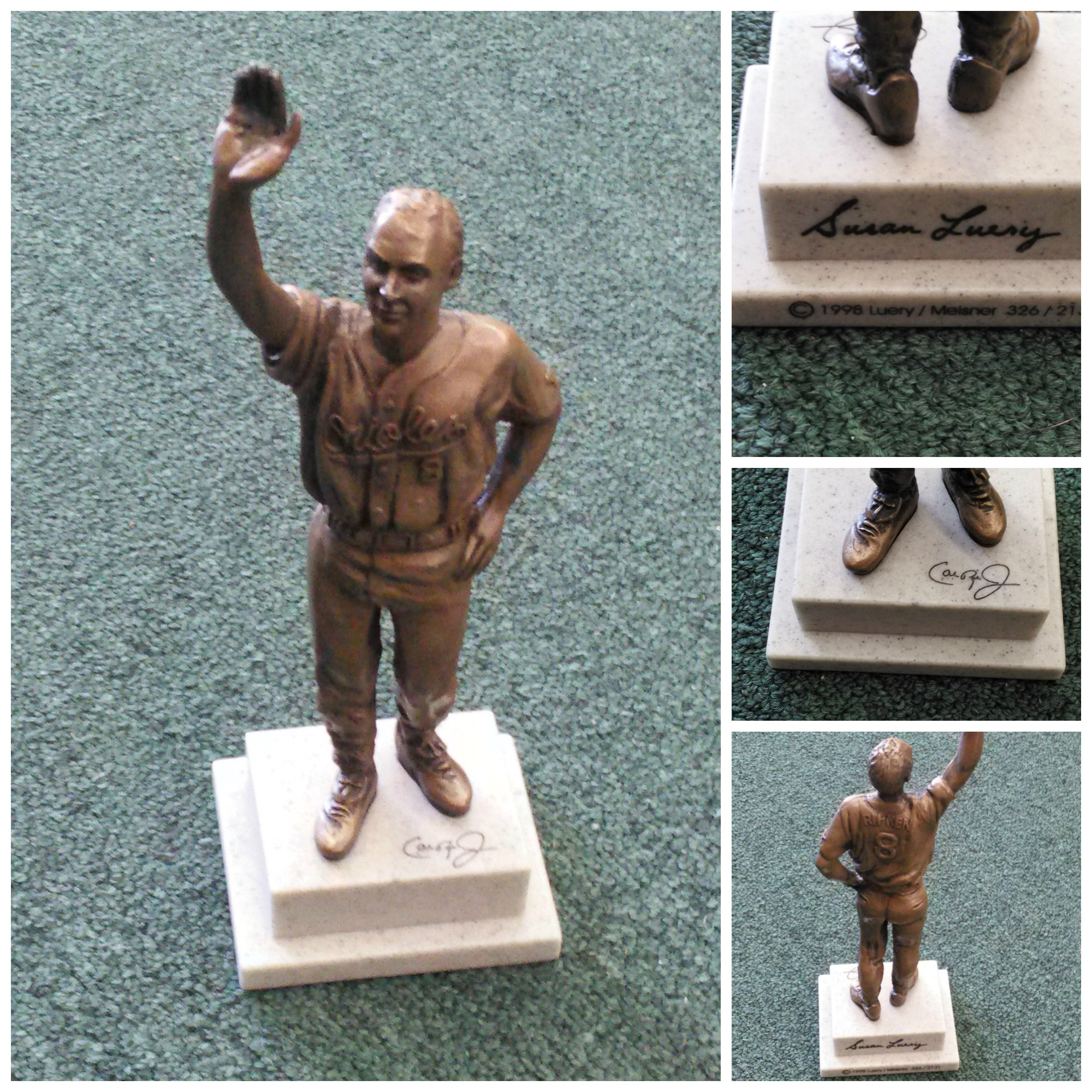 "Cal Ripken, Jr. ""Iron Man"" Bronze #'d of 2,131 Miniature Replica Statue"