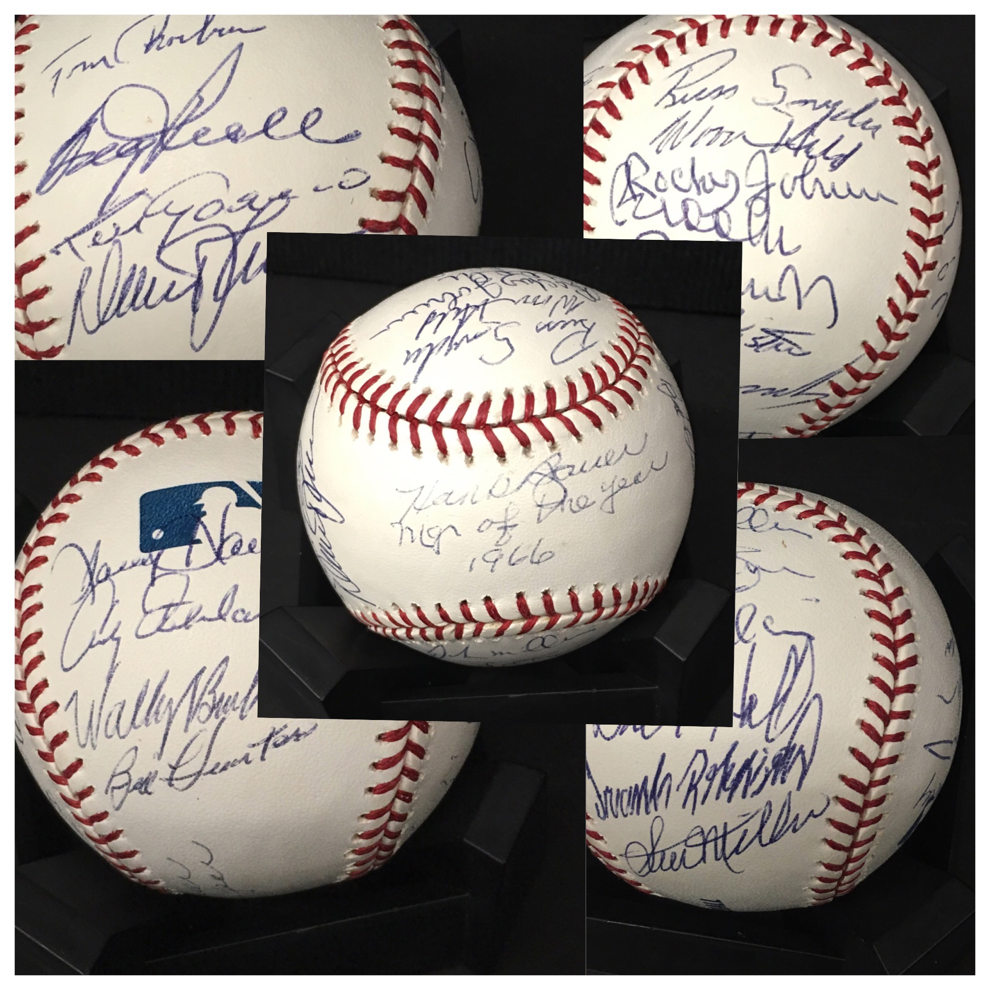 1966 Orioles team signed baseball