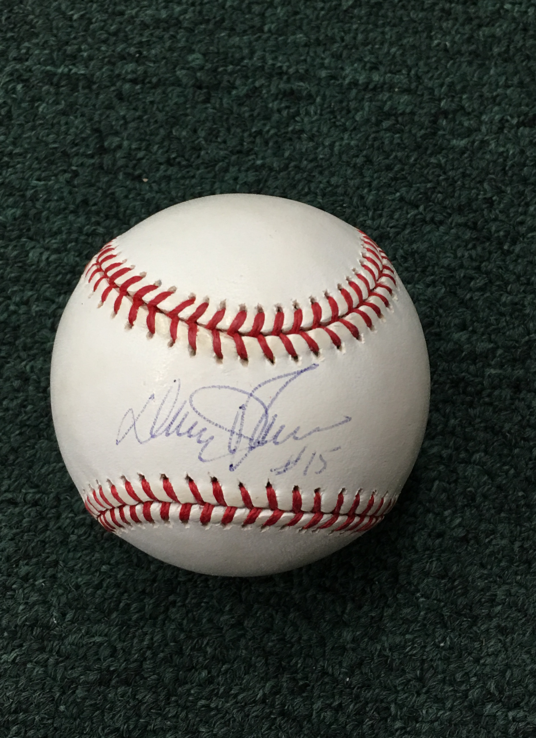 Davey Johnson autographed baseball (PSA)