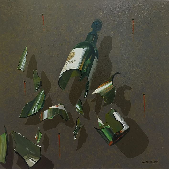 Broken Wine Bottle I