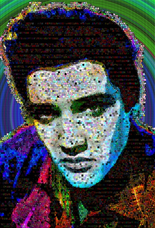 Elvis-presley abstract wall Collage