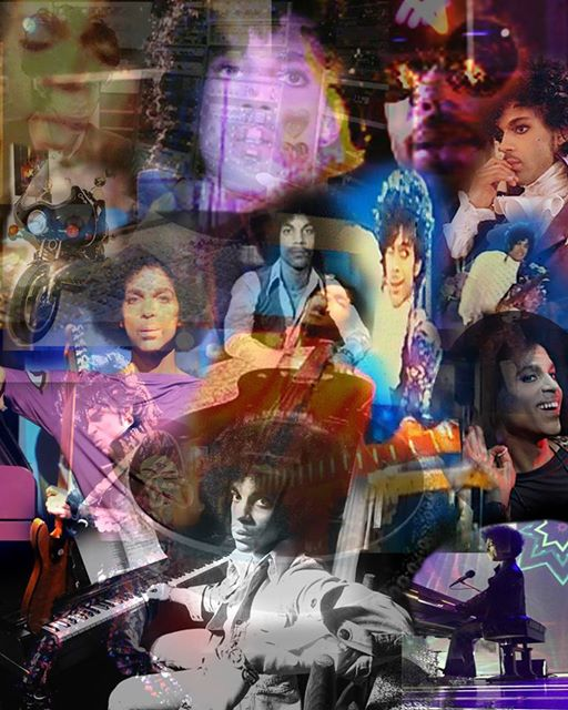 PRINCE: FROM BEGINNING TO END - Digital Photo Collage