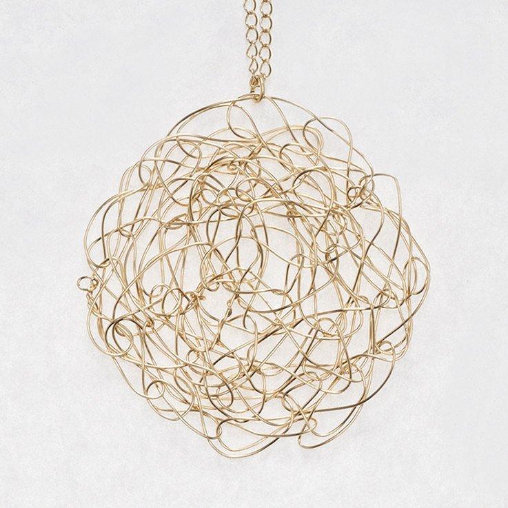 Large Gold Fill Spun Pendant | Susan Freda Collection