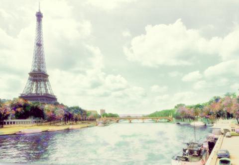 la Tour Eiffel circa 1967 by Merzan