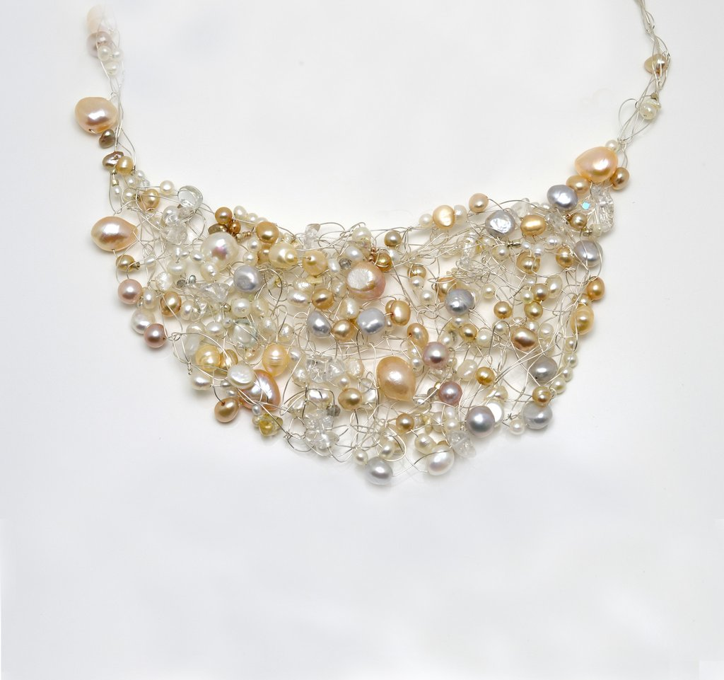 Susan Freda | Pearl Mesh Necklace