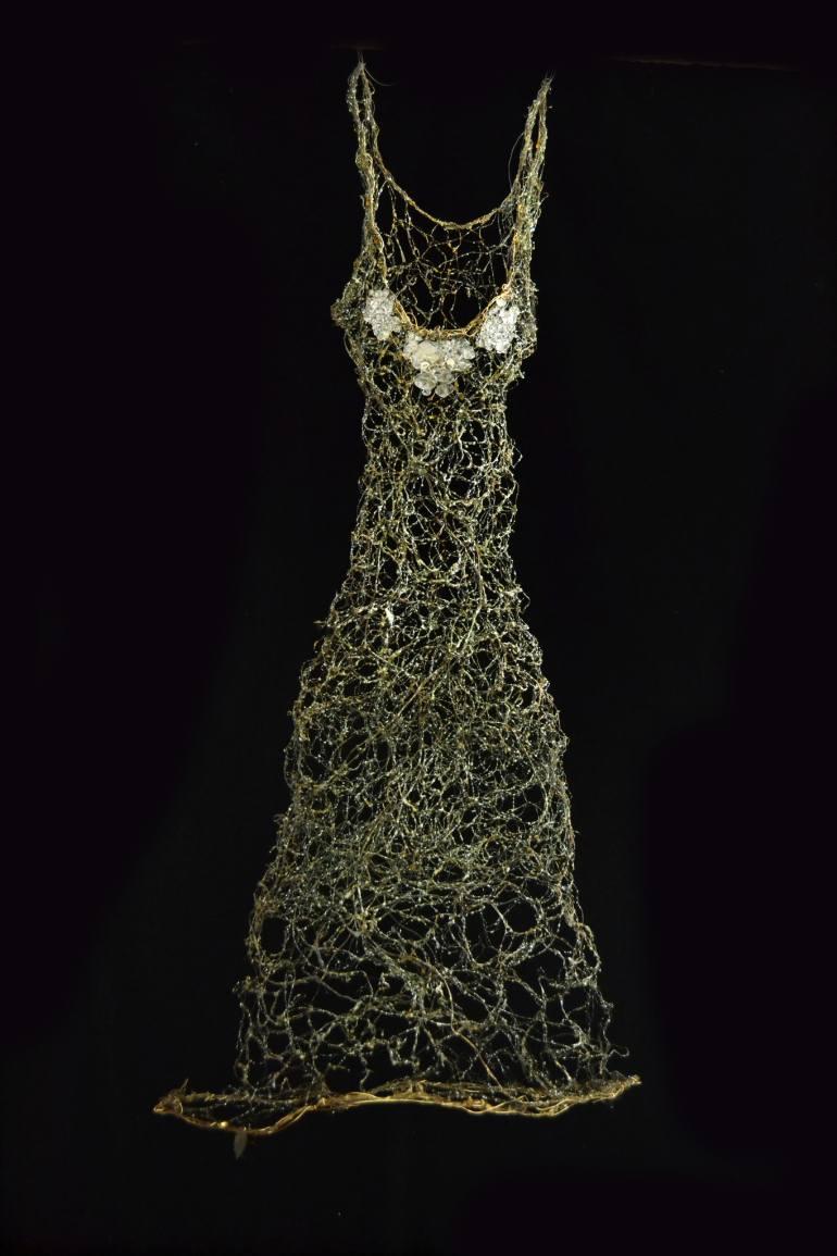 Susan Freda | Fios Aurum (Gold Blossom) Wire Dress