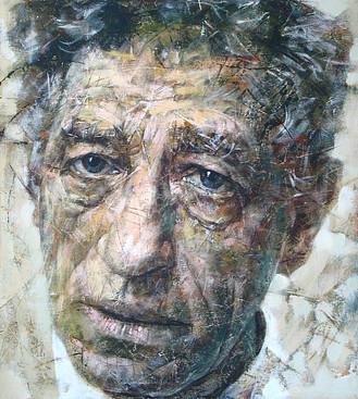 """Giacometti,"" 2010, Acrylic on canvas, 100x120cm"