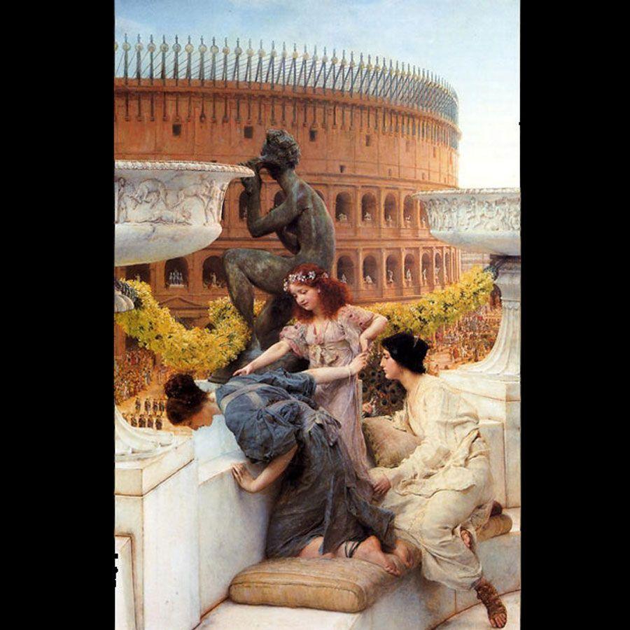 Il Colosseo. Tela di Alma Tadema (1836-1912)