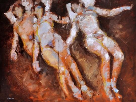 Lon Brauer SLEEP STUDY 2, 30 x 40 in., Oil on panel, United States